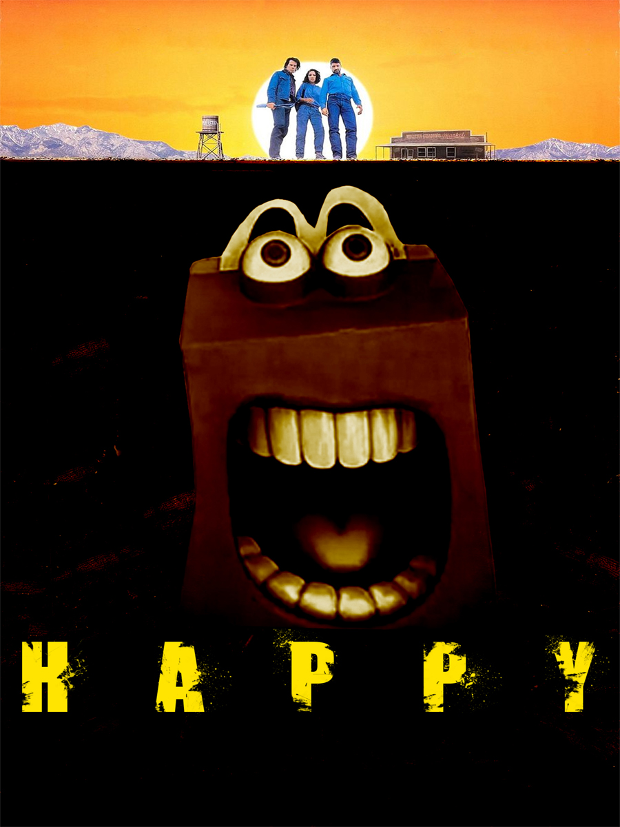 Graphic Design by Free Imagination for Photoshop the scary new McDonald's mascot - 'Happy' - Design #3796629