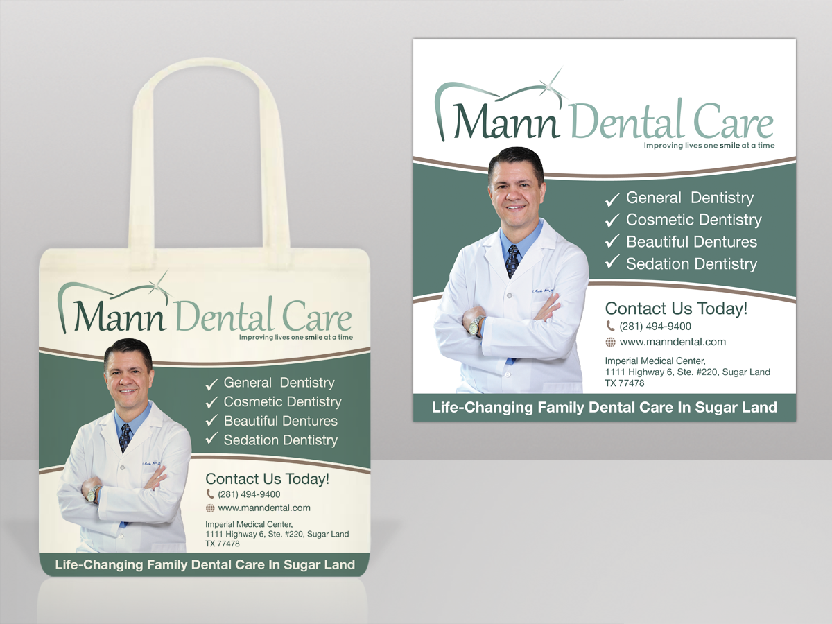 Advertisement Design By Mon01 For Mann Dental Care Small Tote Bag