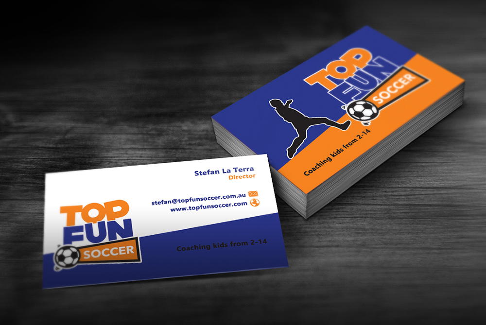 Modern, Elegant, Business Business Card Design for Top Fun Soccer by ...
