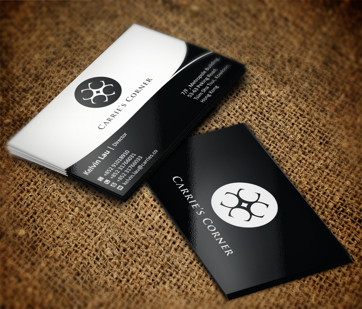 Elegant, Playful, Jewelry Business Card Design for MWS Diamonds and ...