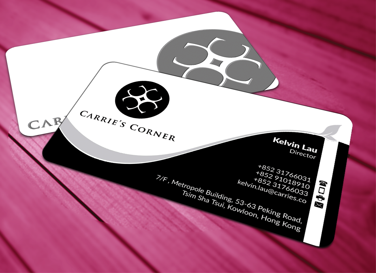 elegant playful business card design for mws diamonds and gems co