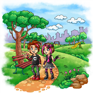 Illustration Design by SangBlater - Goth/emo kids - Illustrations needed for Childr...