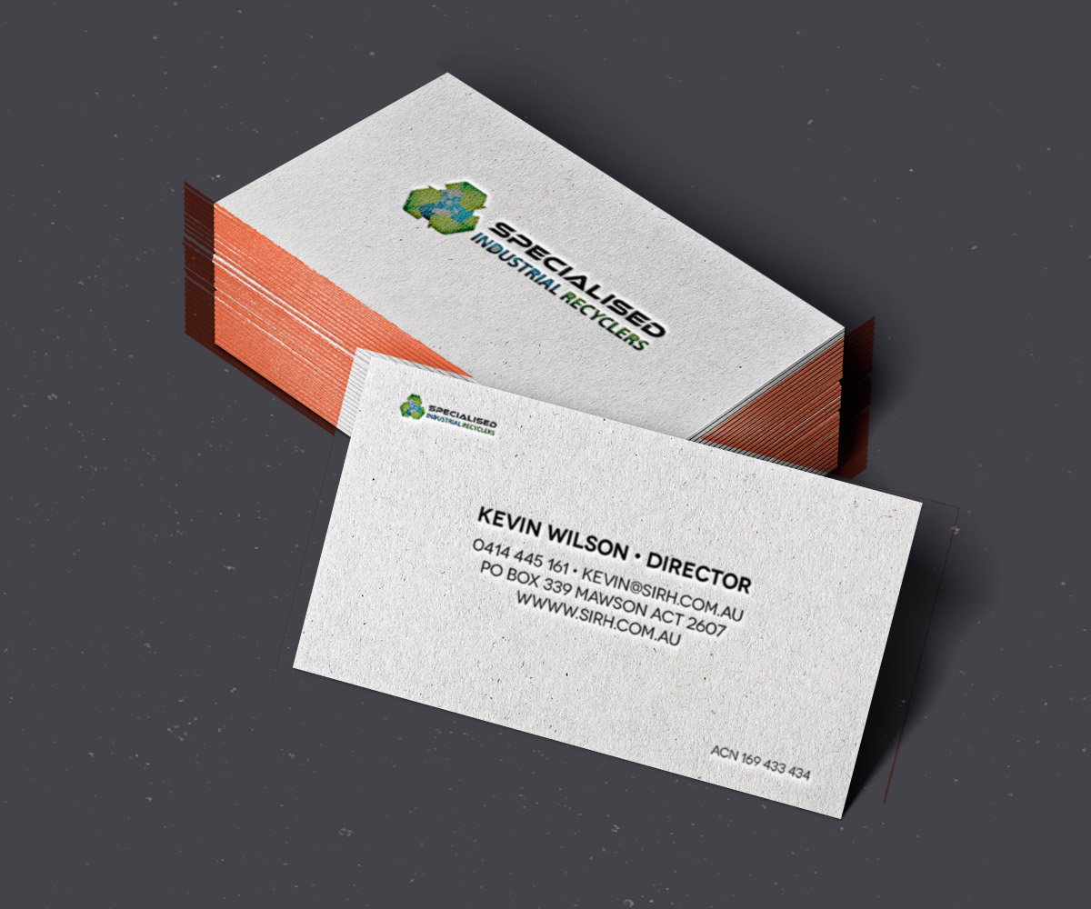 Industrial business card design for a company by joey for Industrial design business