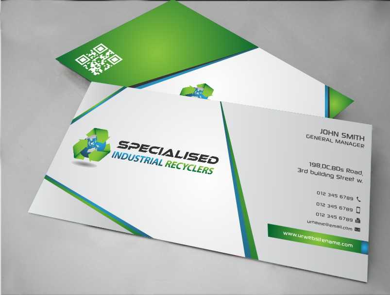 Industrial business card design for a company by awsomed for Industrial design business