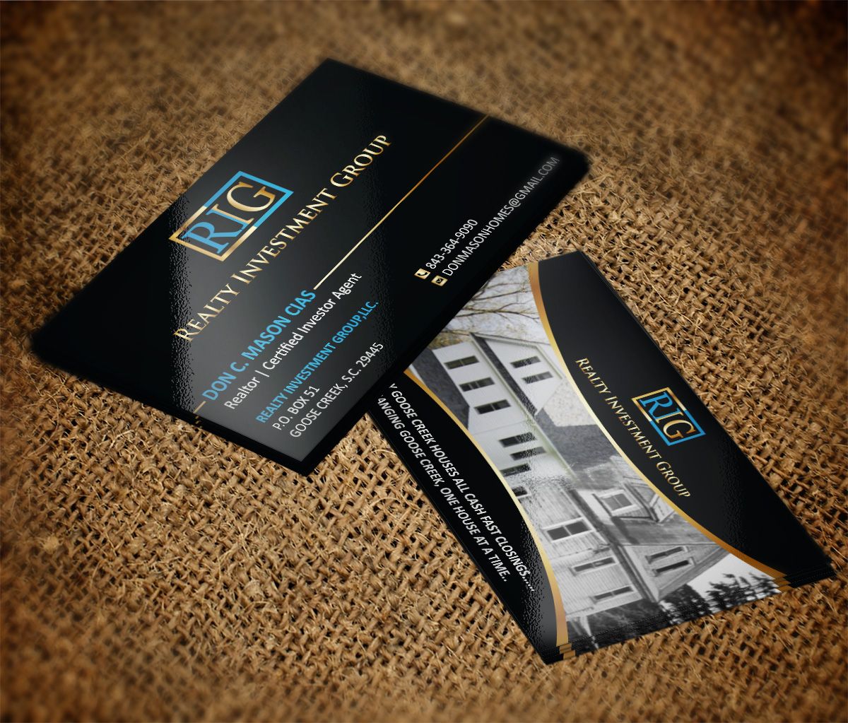 Real estate investing business cards idealstalist real estate investing business cards reheart Choice Image