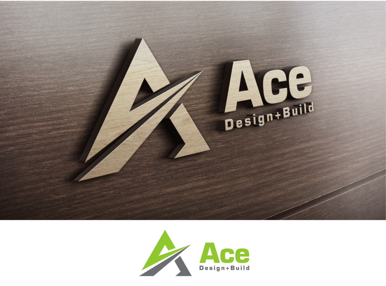 modern  professional  sustainability logo design for ace