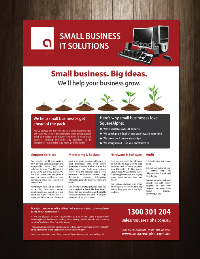 Small Business Flyer Design for SquareAlpha by meet007 | Design #3797653