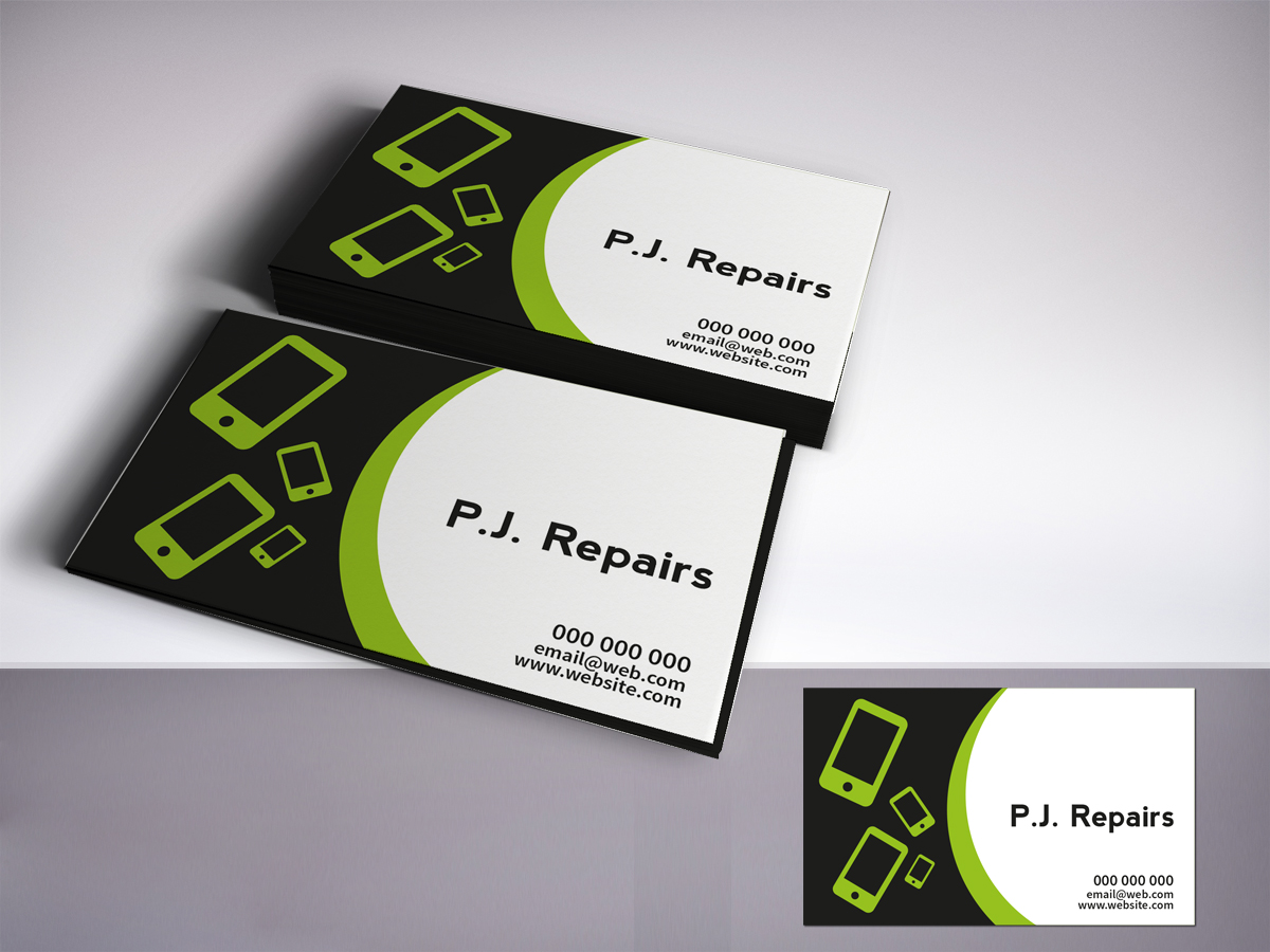 Store Business Cards On Phone Choice Image - Card Design And Card ...