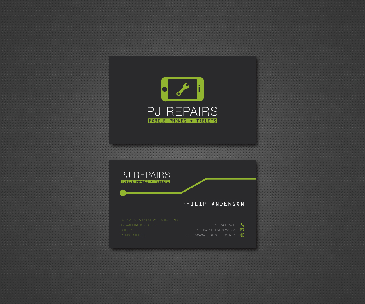 Phone Repair Business Card Design Galleries for Inspiration