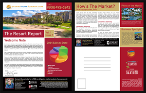 Flyer Design by Priyo Subarkah - Hawaii Real Estate Resort Report; Direct mail d...