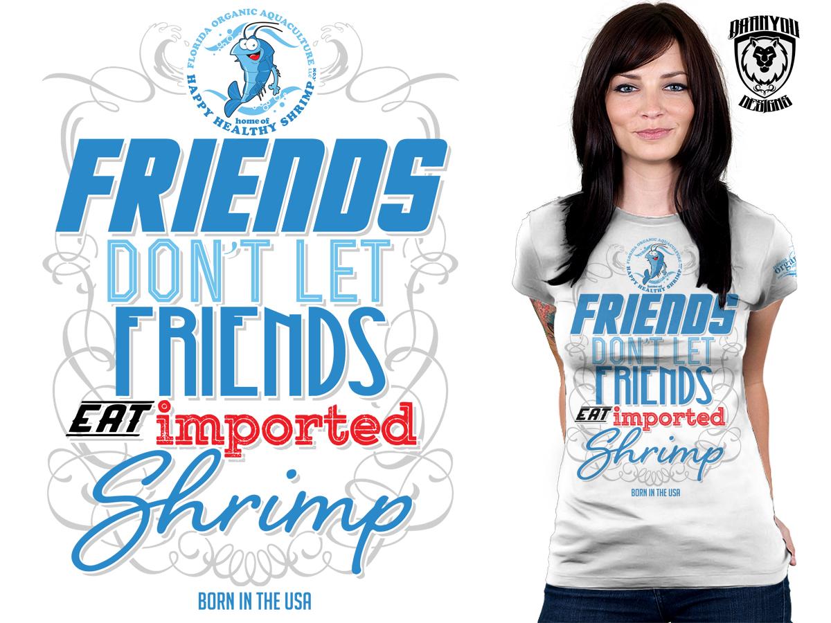 Royal T Shirt Design For Florida Organic Aquaculture By Darnyou
