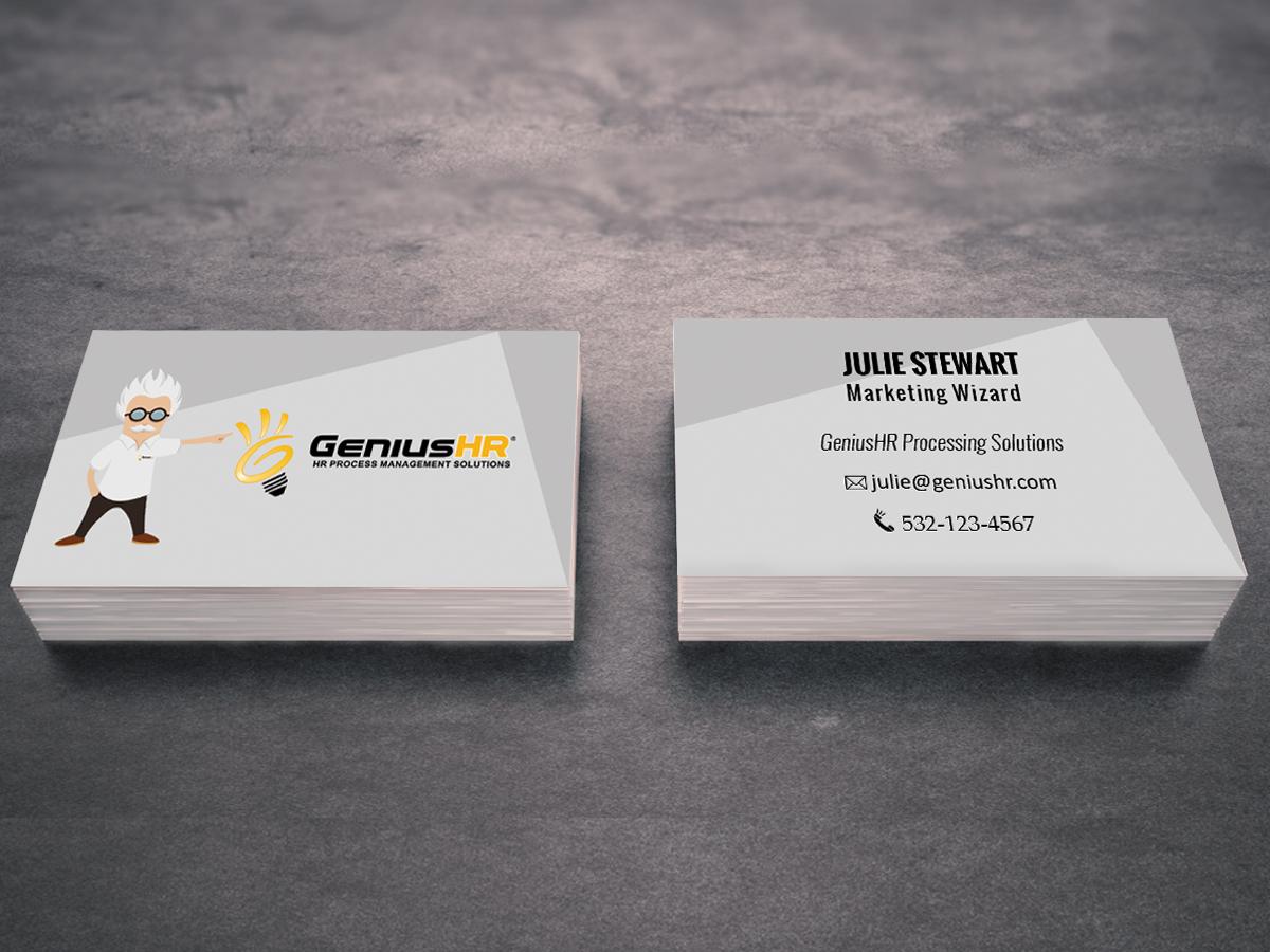 Business Business Card Design for GeniusHR by ShantNiX | Design #3798279