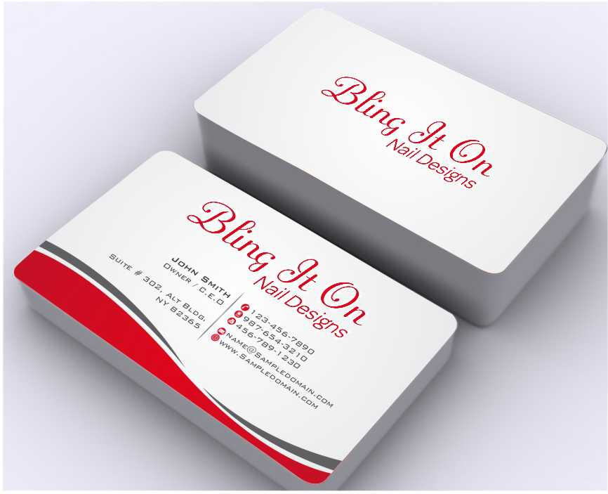 Business Card Design for Bling it On nail designs by Dawson | Design ...