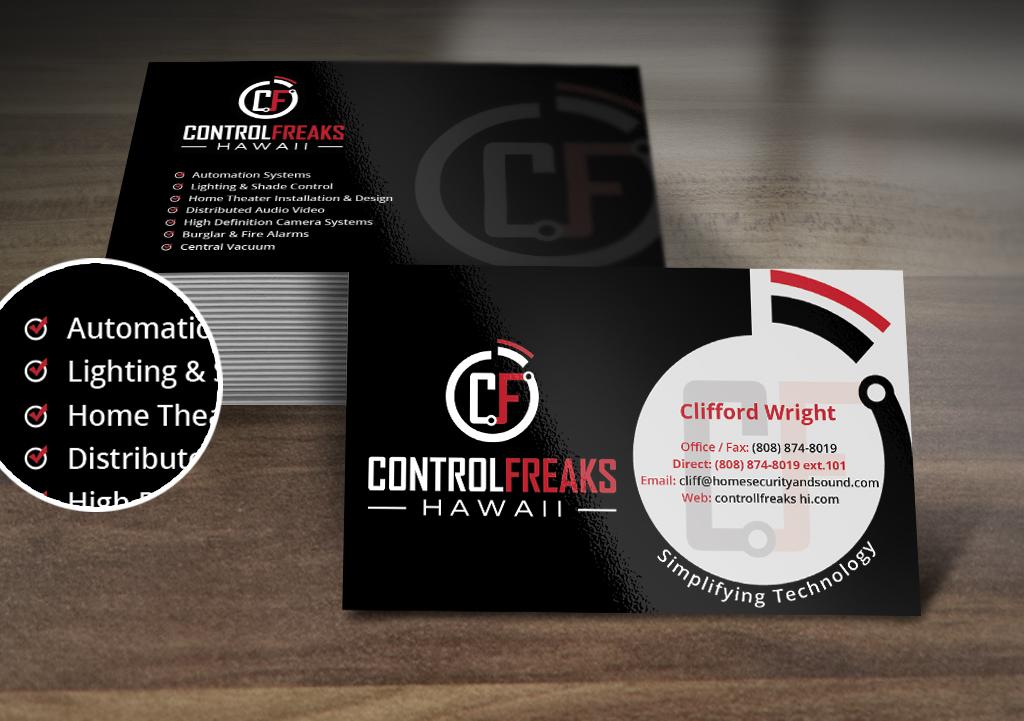 Upmarket Playful Security Business Card Design For Control Freaks Hawaii By Nelsur Design 3978745