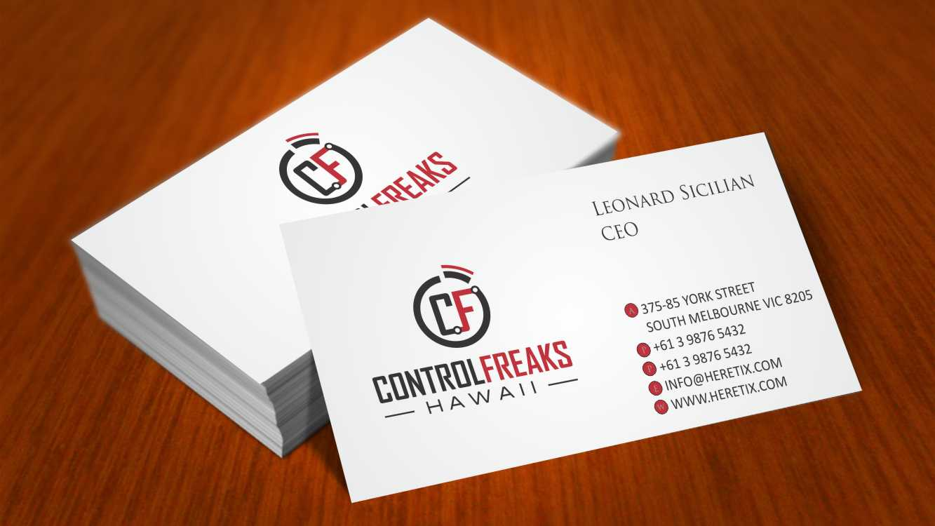 Upmarket, Playful, Security Business Card Design for Control Freaks ...