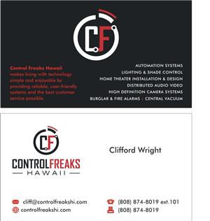 86 upmarket business card designs security business card design business card design by sushma for control freaks hawaii design 4013713 reheart Gallery