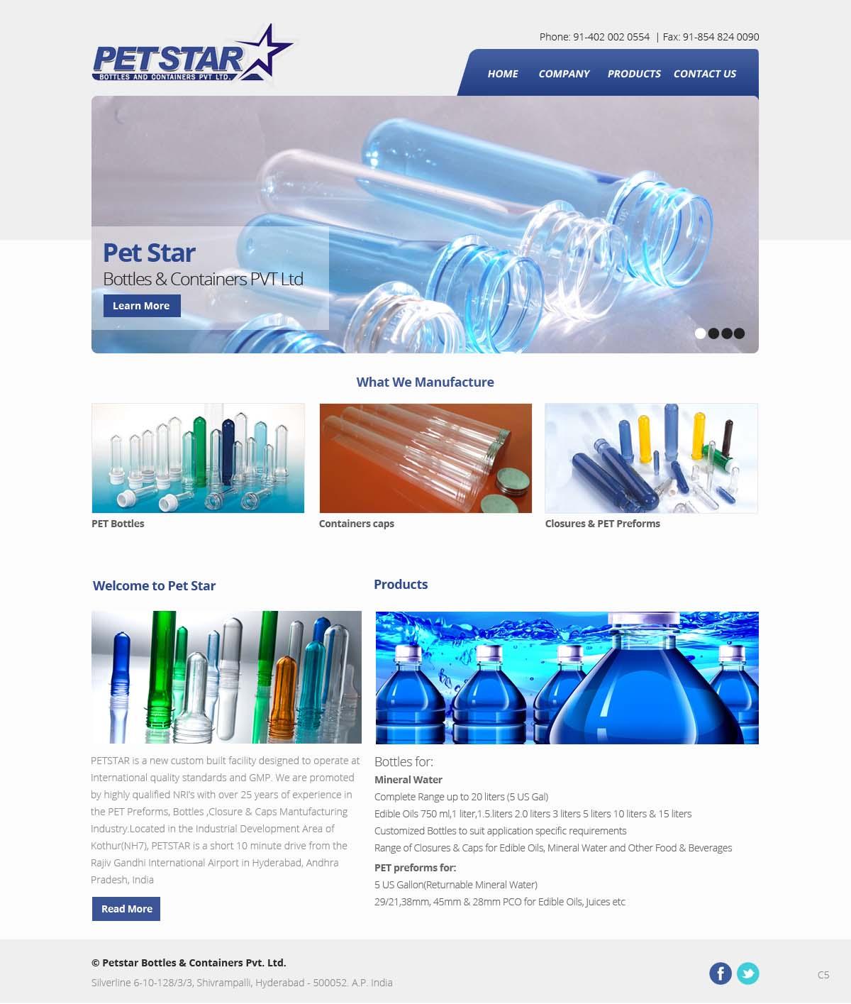 Bold, Professional Web Design for Petstar Bottles