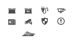 Icon Design by popcic - Icon set for new Boat Monitoring startup!