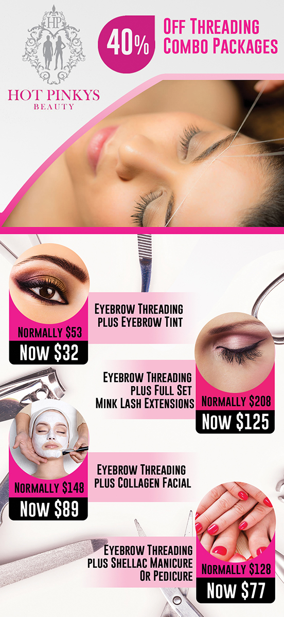 Flyer Design For Hot Pinkys Beauty By Lilcess