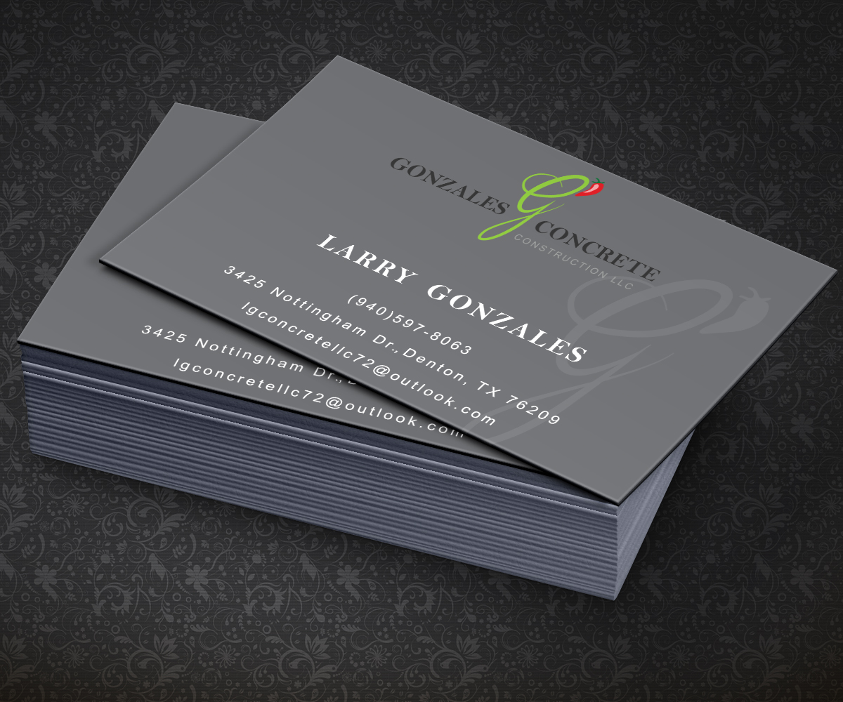 Concrete Business Card Design for a Company by AizerDS | Design #3836890