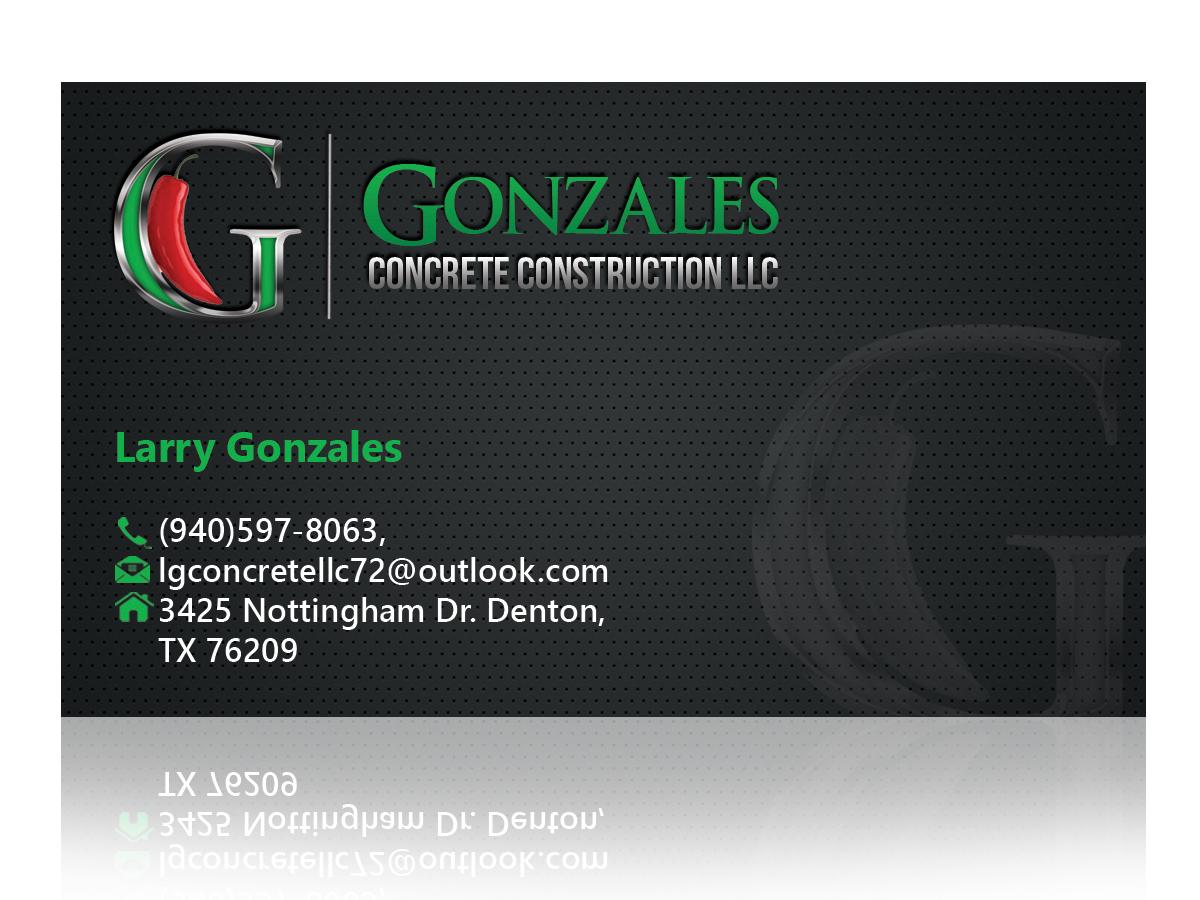 Concrete Business Card Design For A