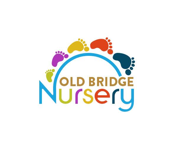 Colorful, Bold, Building Logo Design For Old Bridge