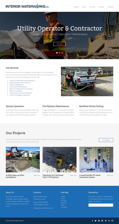 Masculine bold utility web design for interior for Masculine web design