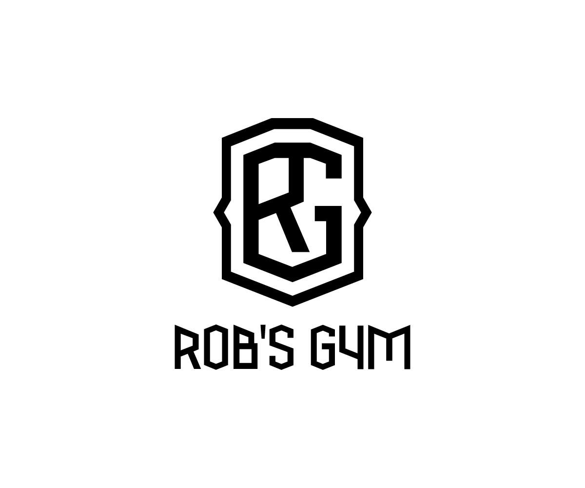 Bold modern garage logo design for rob s gym by dimitris