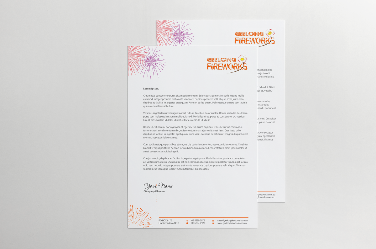 It company letterhead design for geelong fireworks by hypdesign it company letterhead design for geelong fireworks in australia design 3837917 stopboris Gallery