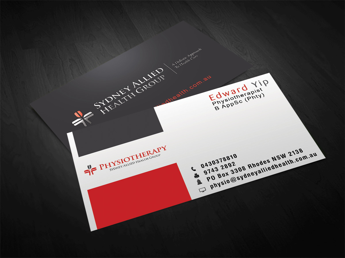 Professional, Conservative, Health Business Card Design for a ...