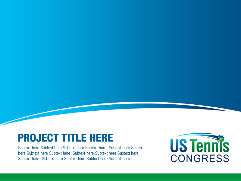 serious, professional powerpoint design for us tennis congress, Powerpoint templates