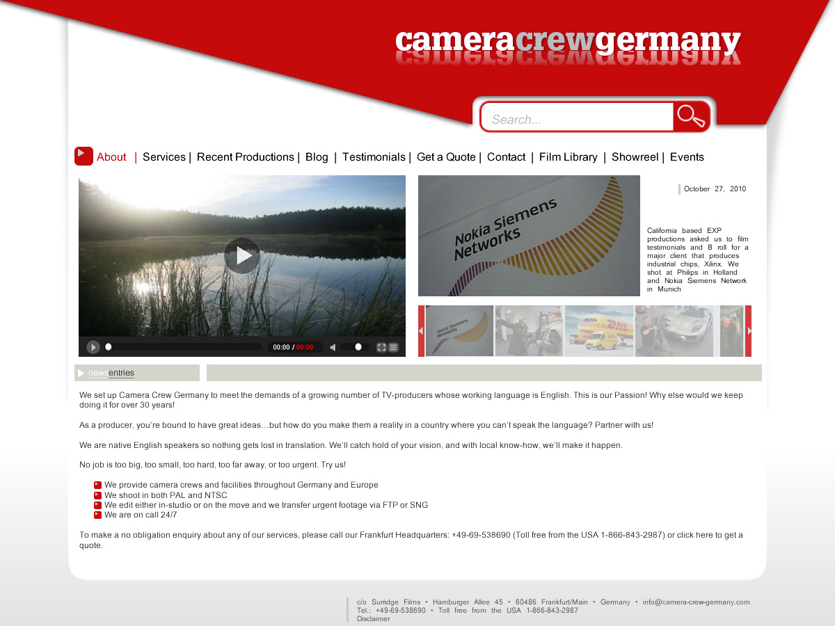 56 fett spielerisch camera web designs for a camera business in germany. Black Bedroom Furniture Sets. Home Design Ideas