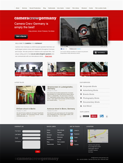 Corporate Manufacturer Web Design 130339