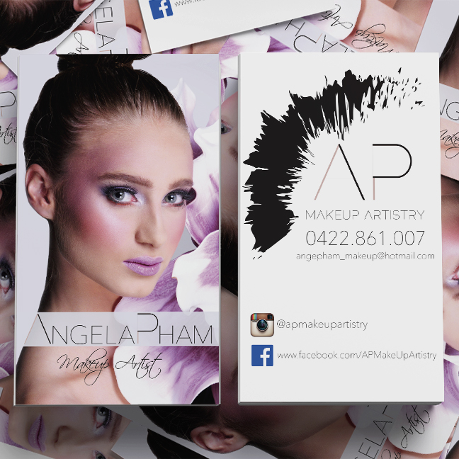 Feminine modern business business card design for a company by business card design by sandra for this project design 3989564 reheart Images