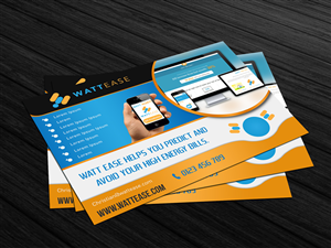 Postcard Design by SumanJung - Consumer Facing Energy Data Analytics Startup N...