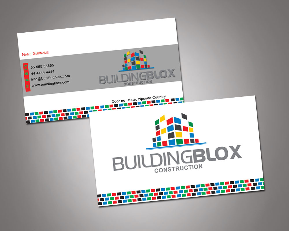 Conservative playful business card design for building blox by business card design by vishvakarmain for building blox construction needs business card design 3853662 magicingreecefo Images