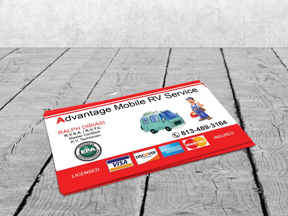 Insurance business card design for advantage mobile rv service by business card design by sajin for advantage mobile rv service design 3840495 colourmoves