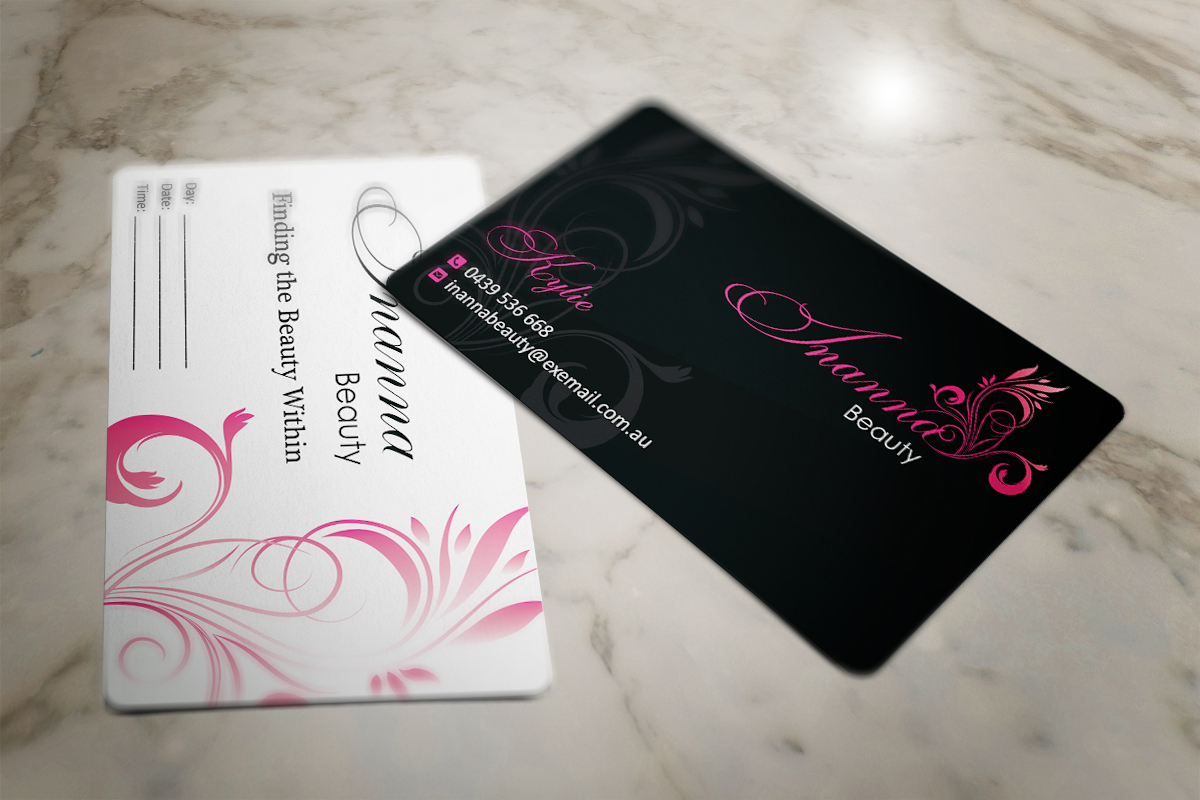Modern, Bold Business Card Design for Inanna Beauty by MT | Design ...