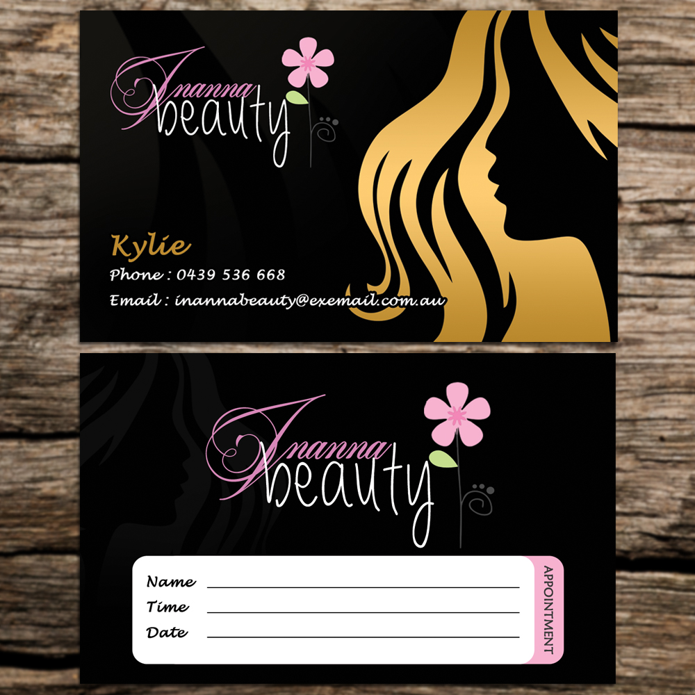 Modern, Bold, Environment Business Card Design for Inanna Beauty by ...