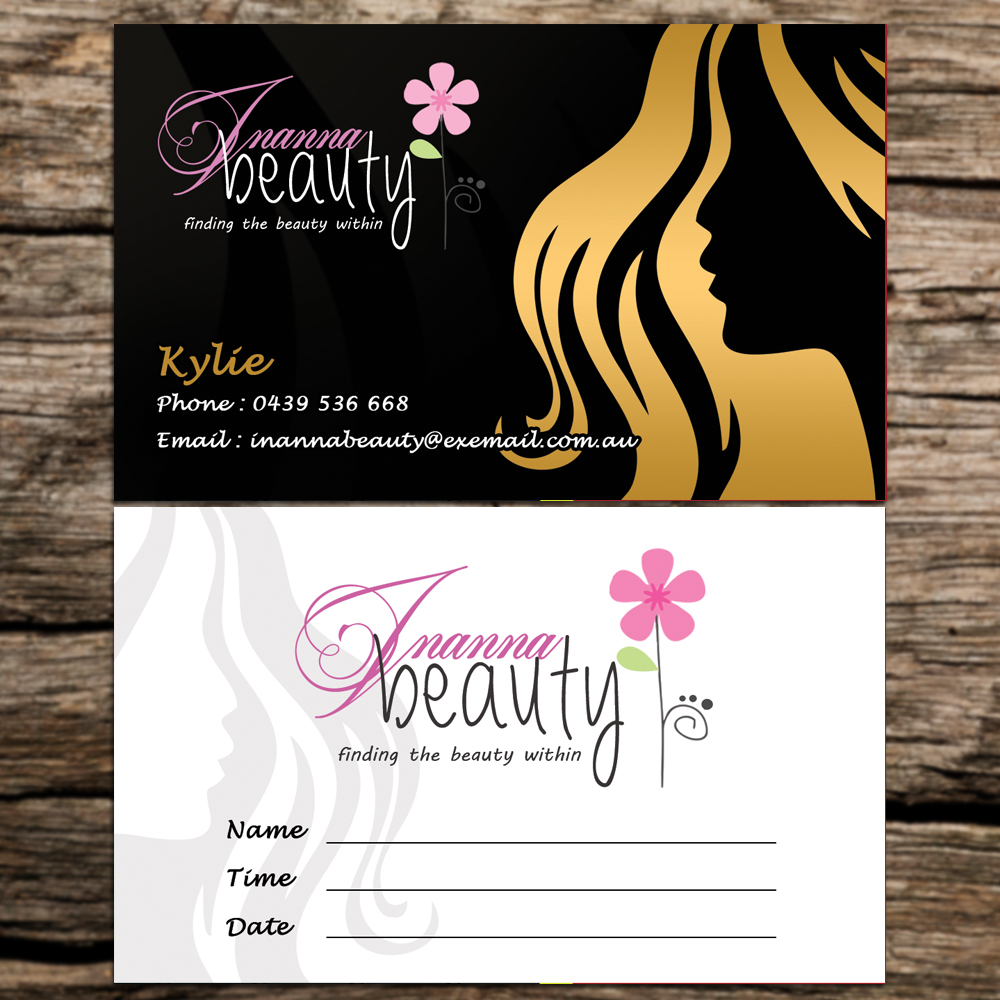 Modern Bold Business Card Design For Inanna Beauty By
