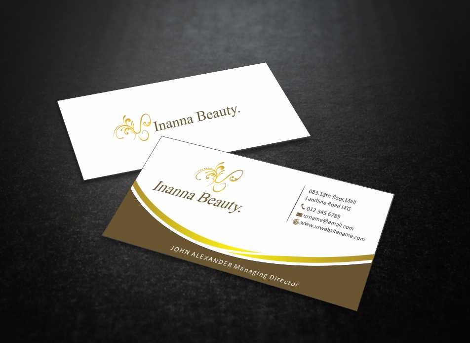 Modern, Bold Business Card Design for Inanna Beauty by Web Special ...
