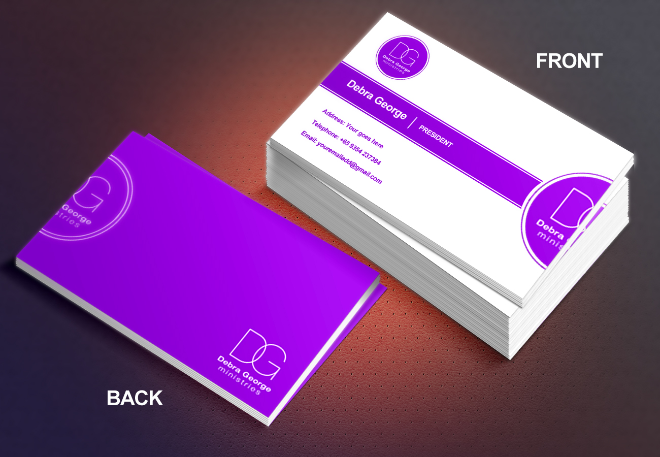 Ministry Business Card Design for Debra George Ministries by Pendejo ...