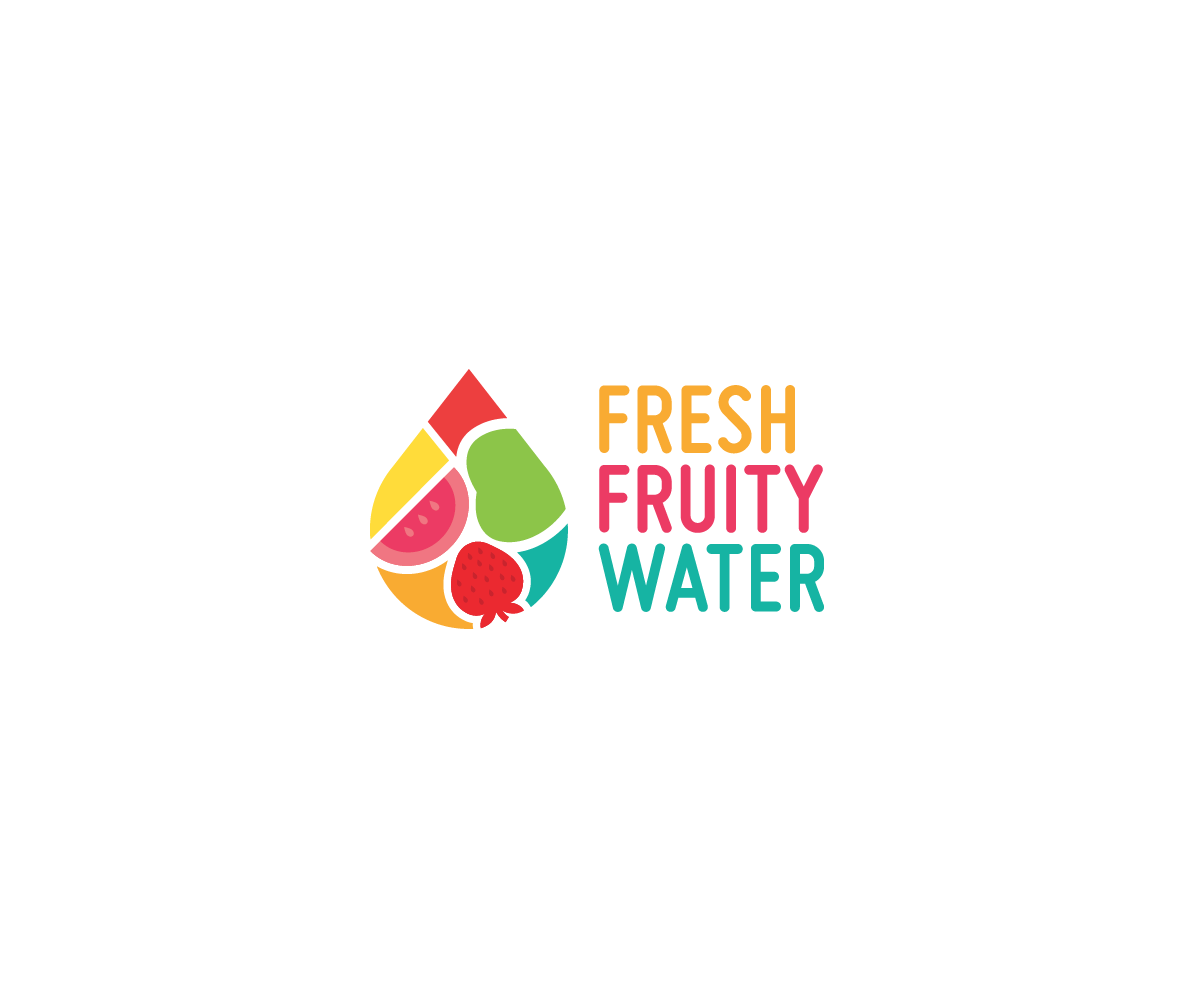 business logo design for fresh fruity water by