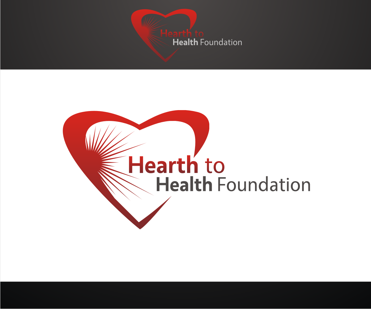 Non profit logo design for heart to health foundation by r for D for design