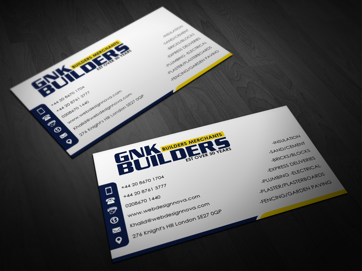 27 Business Card Designs | Trade Business Card Design Project for a ...