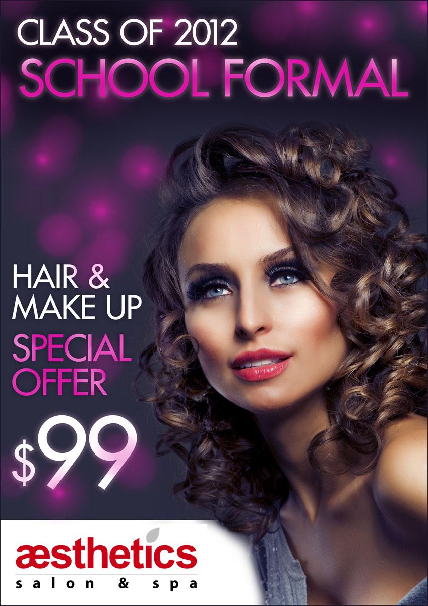 Make a poster design - Poster Design By Onik Filas For School Formal Hair Make Up 99 Special