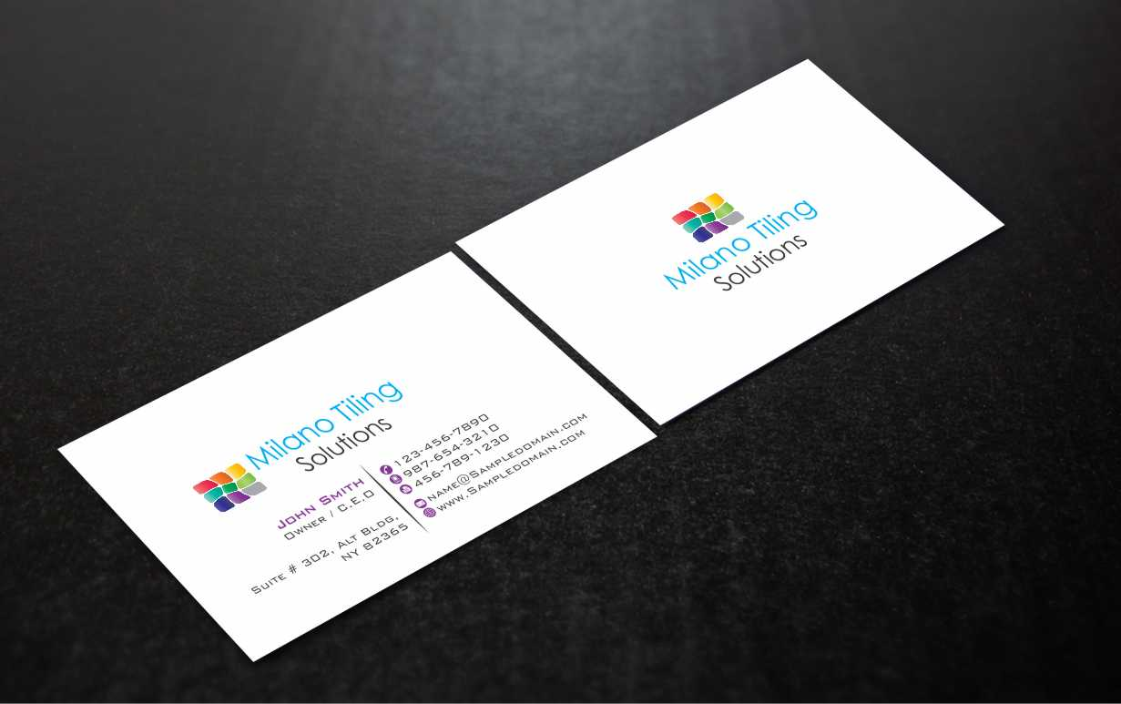 Business card design for daniel milanov by web special design 3868564 business card design by web special for milano tiling solutions qbcc 1229756 abn 61763465324 reheart Image collections