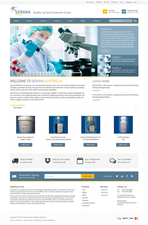 Web Design by Xpiderz - Website for a production laboratory