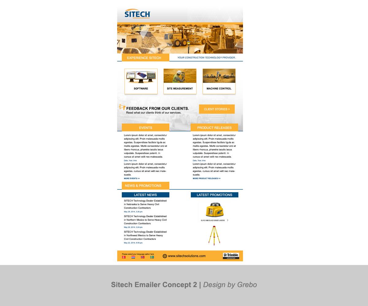 masculine professional construction newsletter design for pon