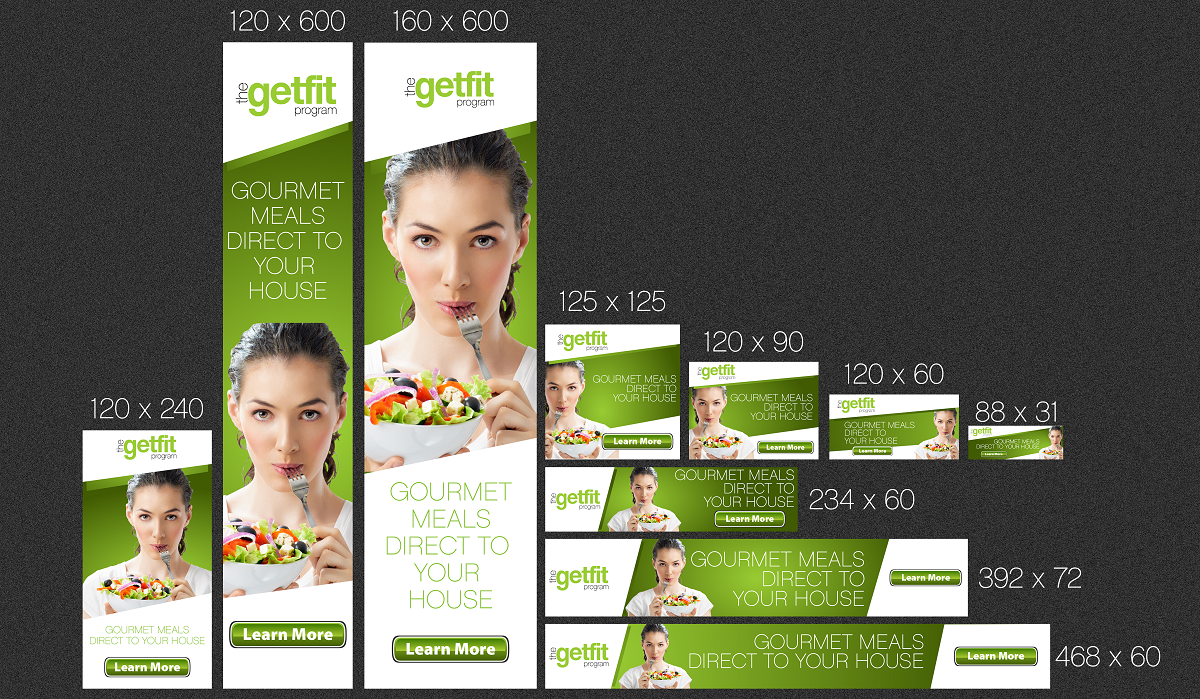 Bold Modern Weight Banner Ad Design For F3 Foods Llc By Yganess